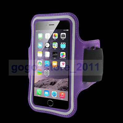 """Purple Armband Sports Gym strap Case Cover holder For Apple iPhone6 I6 4.7"""""""