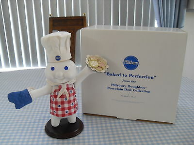 """THE DANBURY MINT - PILLSBURY DOUGHBOY PORCELAIN DOLL - """" BAKED TO PERFECTION!"""""""