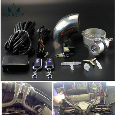 """Exhaust Control Valve Set With Vacuum Actuator CUTOUT 2.5"""" 63mm Pipe CLOSE STYLE"""