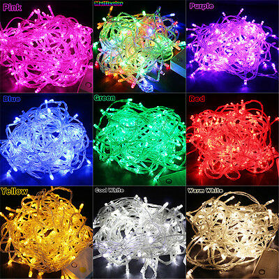 Pretty 10M/20M 100/ 200LED Bulbs Christmas Fairy Party String Lights Waterproof
