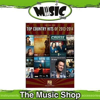 New Top Country Hits of 2013-2014 PVG Music Book - Piano Vocal Guitar