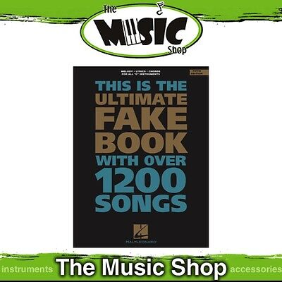 New The Ultimate Fake Book Music Songbook for 'C' Instruments - 5th Edition