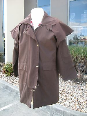 """new"" Adult Oilskin Stockman Jackets 3/4 Mid Length Coats..unisex Medium Only"