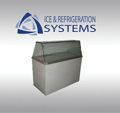 FRICON 8 FLAVOR ICE CREAM / GELATO DIPPING CABINET COMMERCIAL FREEZER cdc52