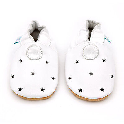 Dotty Fish Soft Leather Baby & Toddler Shoes - Cut Out Stars - 0-6Month - 3-4Yrs