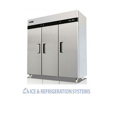 Migali 72CF Commercial 3 Door Reach In Refrigerator Cooler C-3R