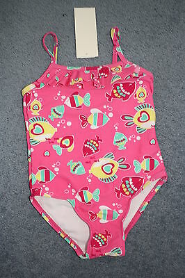 girls swimmers, togs ,swimwear ,bathers, tropical fish design size 2  BNWTS