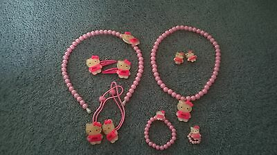girls hello kitty necklace set 7pc set party supplies brand new girls accessorie
