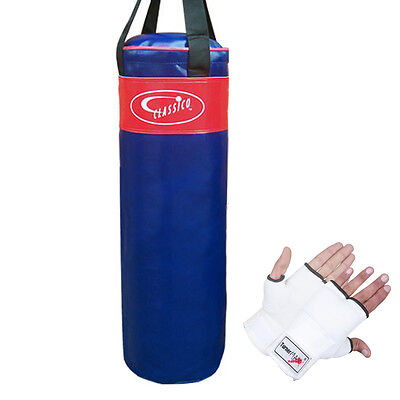 TurnerMAX Boxing Punch Bag Punching Training Muay Thai with Inner Gloves MMA