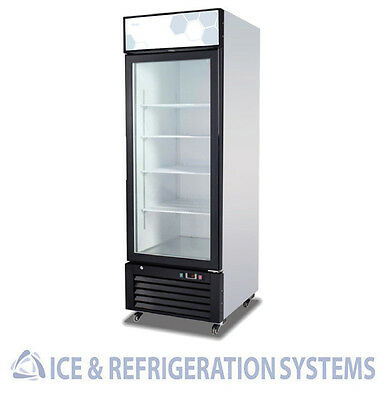 Migali 23C.F. Single Glass Door Refrigerator Merchandiser Cooler C-23RM
