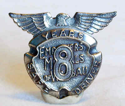Vint Sterling Silver Employers Mutuals Of Waussau Insurance 8Yr Safe Driving Pin