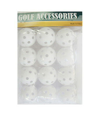 Golf Hollow Plastic Practice Balls - 12 PACK, Golf Accessories & Training Aid