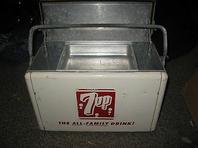 Rare Vintage Embossed Seven Up Cooler