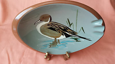 Vtg Stangl Pottery Sportsman Series Ashtray Hand Painted Pintail Duck #3926C