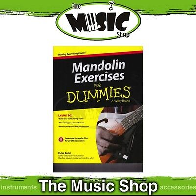 New Mandolin Exercises for Dummies Music Tuition Book with Online Audio Access