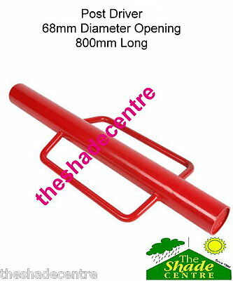 Steel POST DRIVER Star Picket Rammer Fencing 800mm Long 68mm Diameter FX-PD
