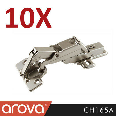 10X 165 Degree Kitchen Cabinet Soft Close Full Overlay Concealed Hinge CH165A