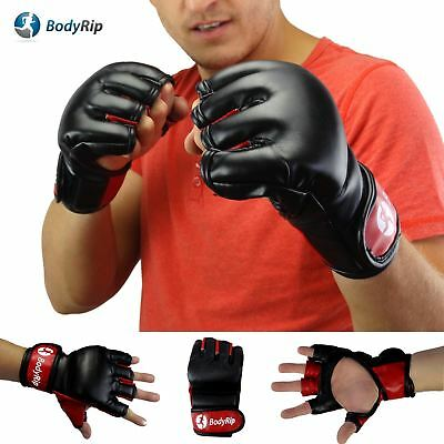 BodyRip LEATHER BOXING MMA FIGHT GLOVES PUNCH BAG MUAY THAI PUNCHING SPORT
