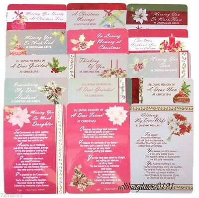 Christmas Graveside Memorial Card. Various Titles Available. FREE P&P