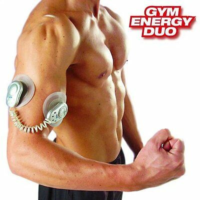 Abs Gym Energy Duo Electrostimulateur Musculation Electrostimulation 2 Patch