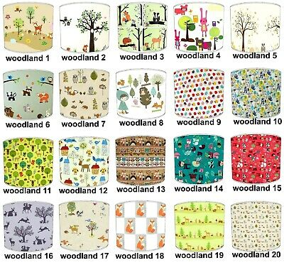 Kids Lampshades Ideal To Match Woodland friends Wall Art Woodland Friends Duvets