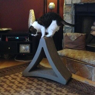 Cat Scratcher Post PetFusion 3 Sided Scratching Board Pet Exerciser Play Supply