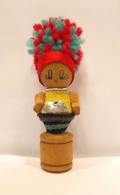 """Mini Ladies' Thai Toy Collection Wood  Crafts 3"""" Doll Free Shipping"""