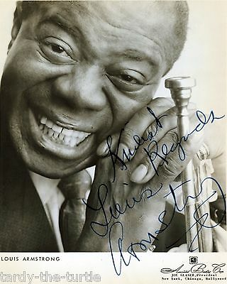 Louis Armstrong 8 x 10 Autograph Reprint  What a Wonderful World  Hello Dolly!