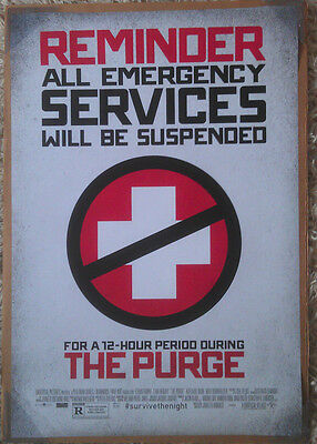 THE PURGE MOVIE POSTER 2 Sided ORIGINAL FINAL 27x40 ETHAN HAWKE