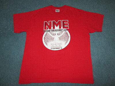 Vintage Nme Glastonbury 1995 Promo Concert T-Shirt The Verve Flaming Lips Weezer