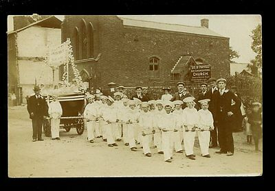 Warwickshire Coventry STOKE boat T B ENA young sailors parade float 1906 RP PPC
