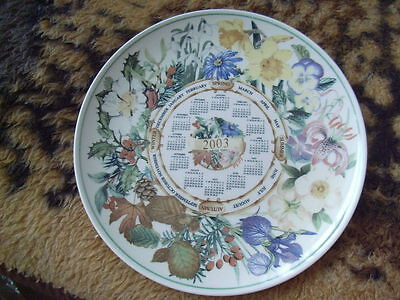 """WEDGWOOD COLLECTORS PLATE- """"4 SEASONS 2003"""" MADE FOR THE DAILY MAIL!"""