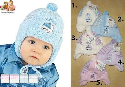 Baby BOYS & GIRLS winter hat -  NEW size 0 - 9 months BOY and GIRL