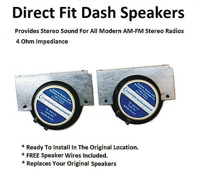Two Stereo Dash Replacement Speakers for Modern Radios SC13