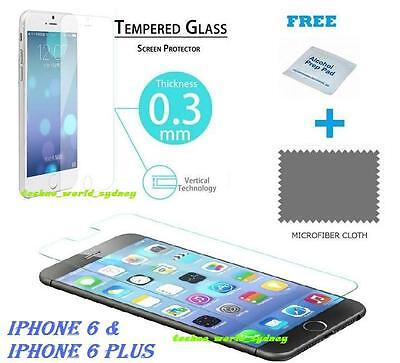 LCD Scratch Resist Screen Protector Tempered Glass FOR Apple iPhone 6 4.7 6 plus
