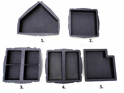 CONCRETE PAVING MOULD-SLAB-BRICK-FLAG - Antique set of 5 moulds or separate