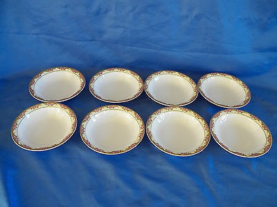 """Vintage Lot 8 Edwin Knowles Vitreous China Berry Side Bowls 5"""" VGC"""