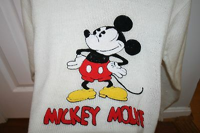 vintage 80S MICKEY MOUSE DISNEY CHARACTER FASHIONS ACRYLIC SOFT SWEATER MEDIUM