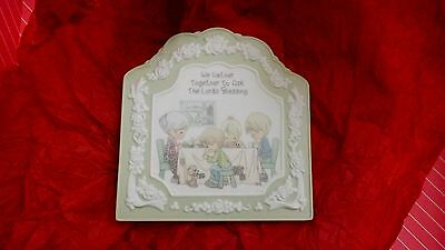 "Precious Moments Wall Hanging Decor ""We Gather Together...."""