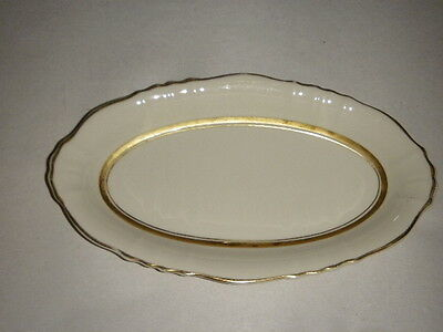 "CORNWALL FEDERAL SHAPE SYRACUSE CHINA 9"" OVAL SERVER PLATE PLATTER MADE AMERICA"