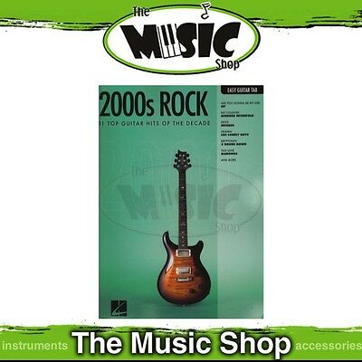 New 2000s Rock Music Book for Easy Guitar with Notes & Tablature