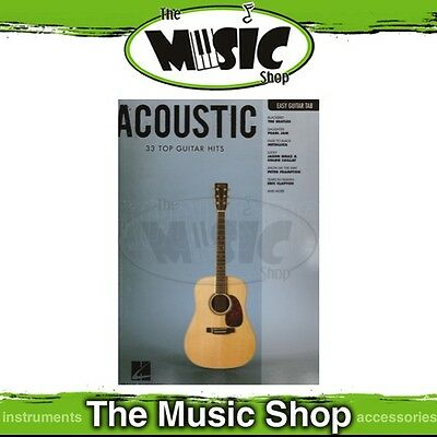 New Acoustic Music Book for Easy Guitar with Notes & Tablature
