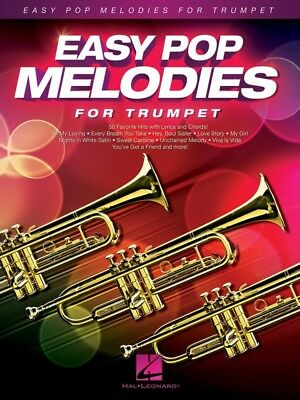 New Easy Pop Melodies for Trumpet Music Book - Beginners Songbook
