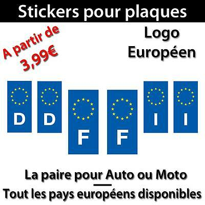 sticker plaque d 39 immatriculation adh sif autocollant logo europ en voiture moto eur 3 29. Black Bedroom Furniture Sets. Home Design Ideas