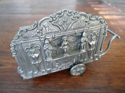 Silver - Sterling - ? Music box push cart