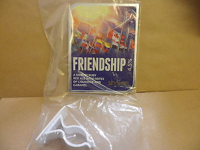 Hydes Friendship Ale Beer Pump Clip face display New with clip