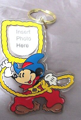 """Mickey 'western Mickey Mouse"""" Style Picture Holder Key Chain 3"""" X 4"""""""