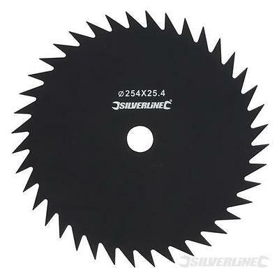 SILVERLINE CARBON STEEL BRUSH CUTTER BLADE 40 TOOTH 25.4mm DIA BORE (675319)