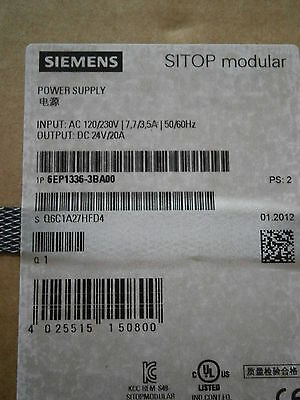 Siemens 6Ep13363Ba00 Power Supply New In Box Factory Sealed