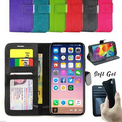 iPhone 8 7 6 6S Plus 5 5C Case, NEW Premium Leather Flip Wallet Cover for Apple